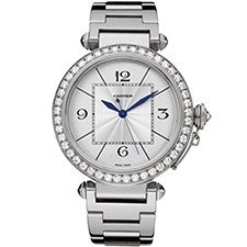 CARTIER PASHA 42MM WHITE GOLD