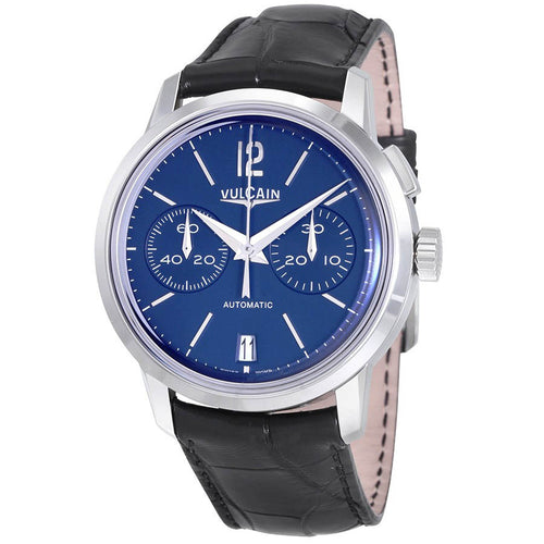 Vulcain 50s Presidents Blue Dial Automatic Men's Chronograph Watch 570157.311L