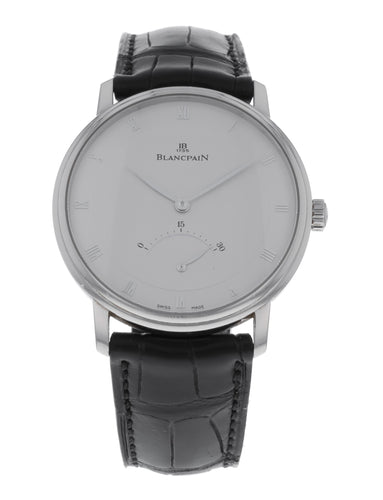 Blancpain Villeret Ultra Slim Retrograde Automatic 18k White Gold 40mm Watch