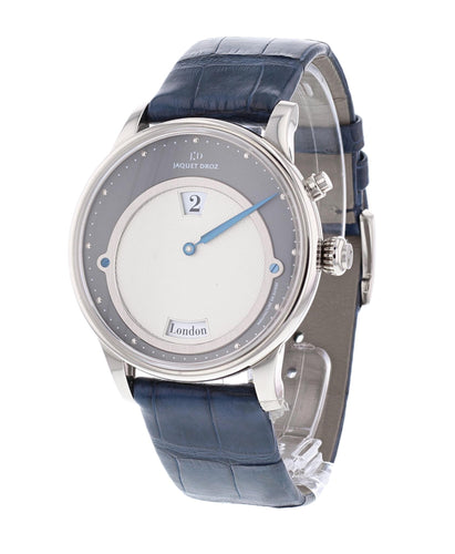 Jaquet Droz Les Douze Villes - 12 Cities 18k White Gold Jumping Hour Men's Watch