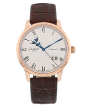 Glashutte Original Senator 18k Rose Gold Panorama Date Moonphase 40mm Mens Watch
