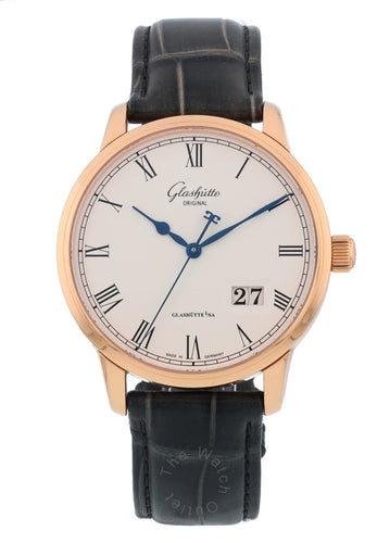 Glashutte Original Senator Panorama Date 18k Rose Gold Automatic 40mm Mens Watch