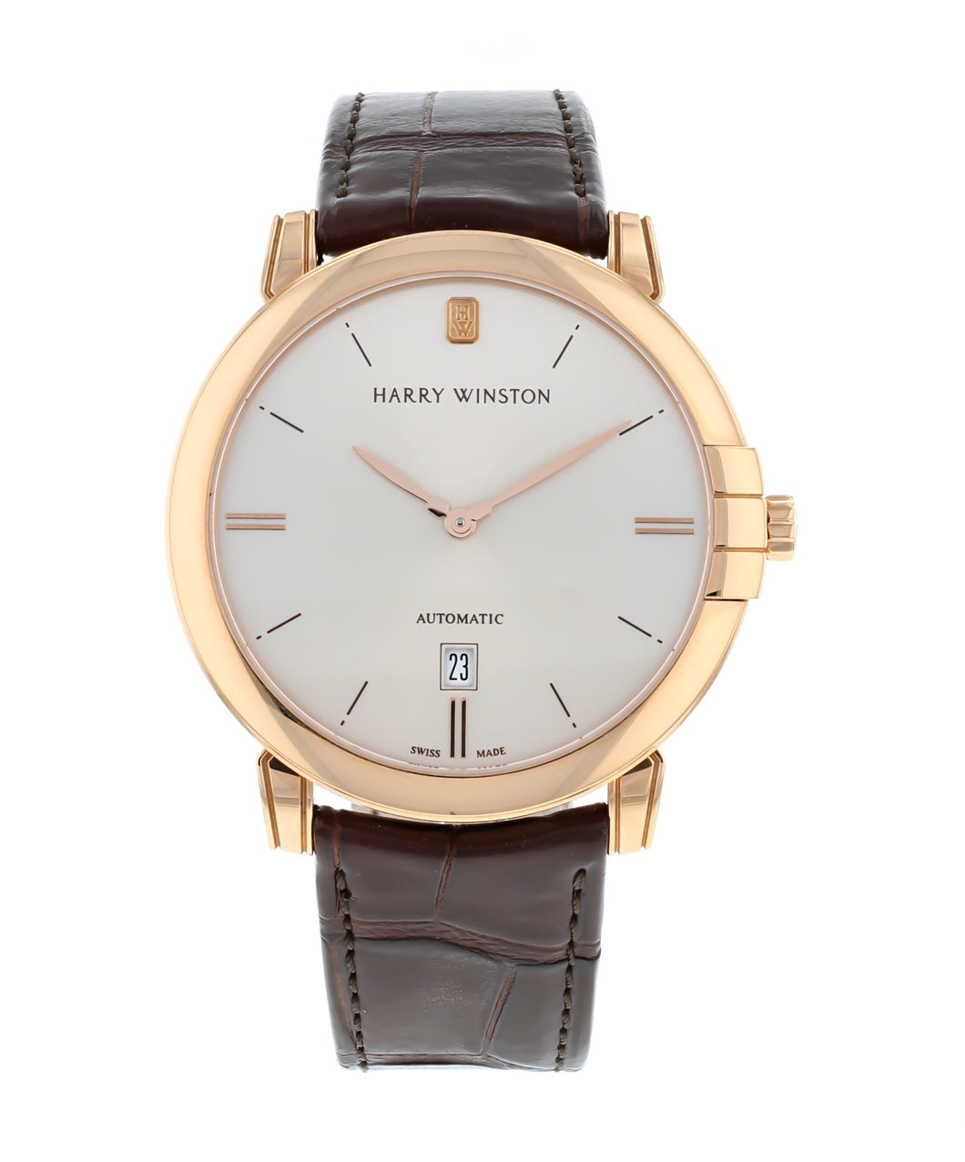 Harry Winston Midnight 42mm Champagne Dial 18k Rose Gold Automatic Men's Watch