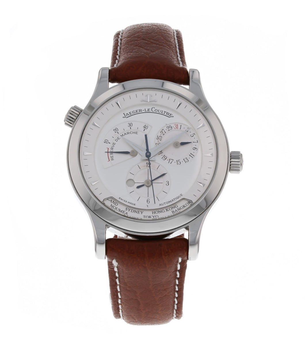 Jaeger Lecoultre Master Geographic Reserve De Marche Steel Automatic 142.8.92