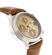 Baume & Mercier Transatlantic Chronograph Yellow Dial Leather Automatic Watch