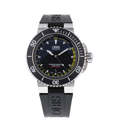 Oris Aquis Depth Gauge Black Dial Stainless Steel Men's 46mm Automatic Watch