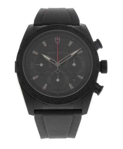 Tudor Blackshield Automatic 42mm Chronograph Rubber Strap Men's Watch 42000CN