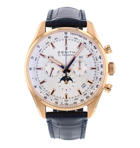 Zenith El Primero Complete Calendar  Moonphase 18k Rose Gold Men's 42mm Watch