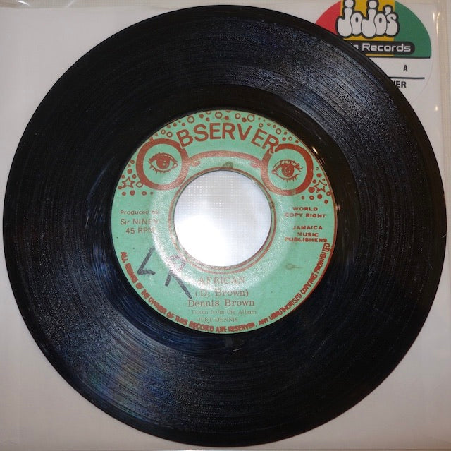 "Dennis Brown ‎– African / Dub Root Of David 7"" - Observer"