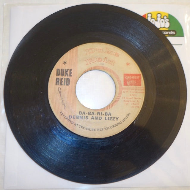 "Dennis And Lizzy / Tommy McCook ‎– Ba-Ba-Ri-Ba / Buck And The Preacher 7"" - Duke Reid"