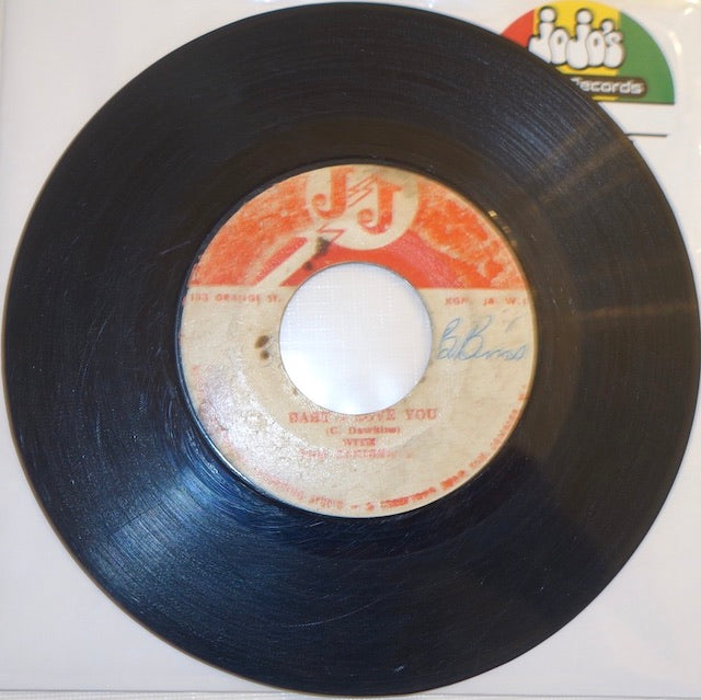 "C. Dawkins With The Carib Beats ‎– Baby I Love You / Hard Time 7"" - JJ Records"