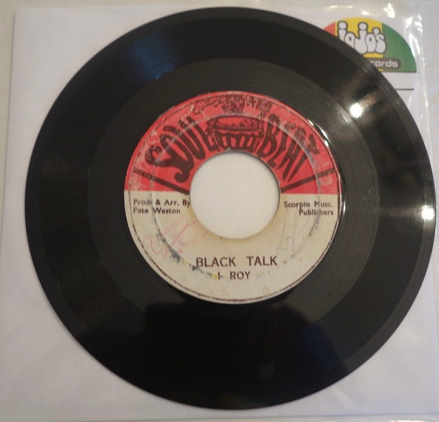 "I Roy / Blacker Black ‎– Black Talk / Black Organ 7"" - Soul Beat"