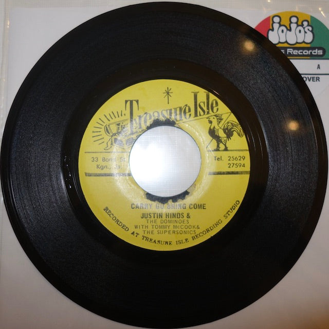 "Justin Hinds & The Dominoes ‎– Carry Go Bring Come / Once A Man Twice A Child 7"" - Treasure Isle"