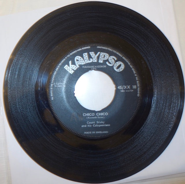 "Count Sticky and His Calypsonians - Chico Chico / Bam Cielena 7"" - Kalypso"