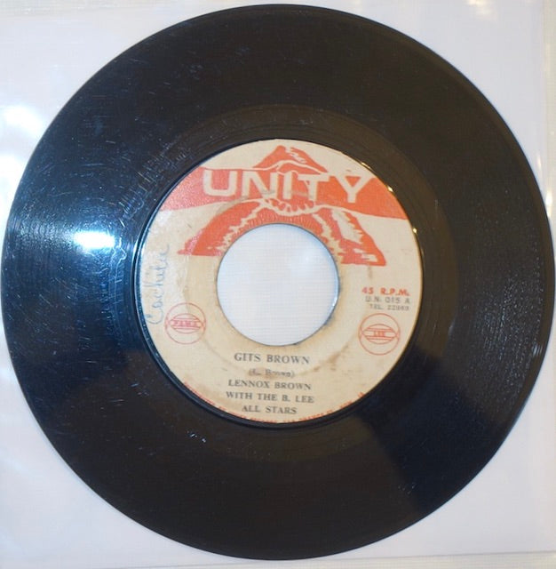 "Johnny Melody - Run Them / Gits Brown 7"" - Unity"
