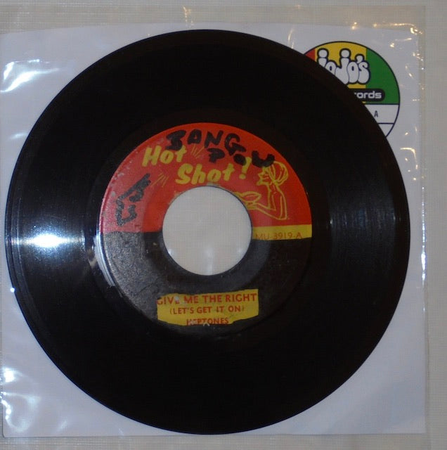 "The Heptones ‎– Give Me The Right (Let's Get It On) / Version 7"" - Hot Shot!"