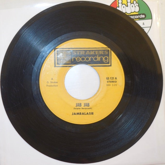 "Jambalasie ‎– Jab Jab / Sucouyant Ball Of Fire 7"" - Strakers Recording"