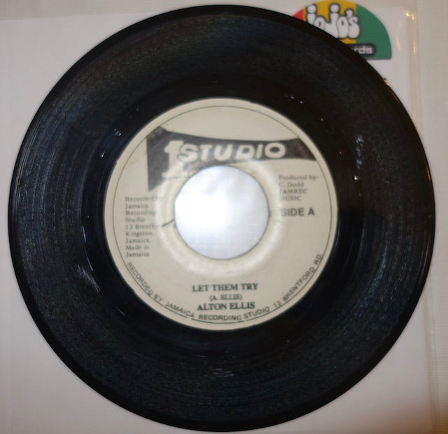 "Alton Ellis ‎– Let Them Try / A Fool 7"" - Studio One"