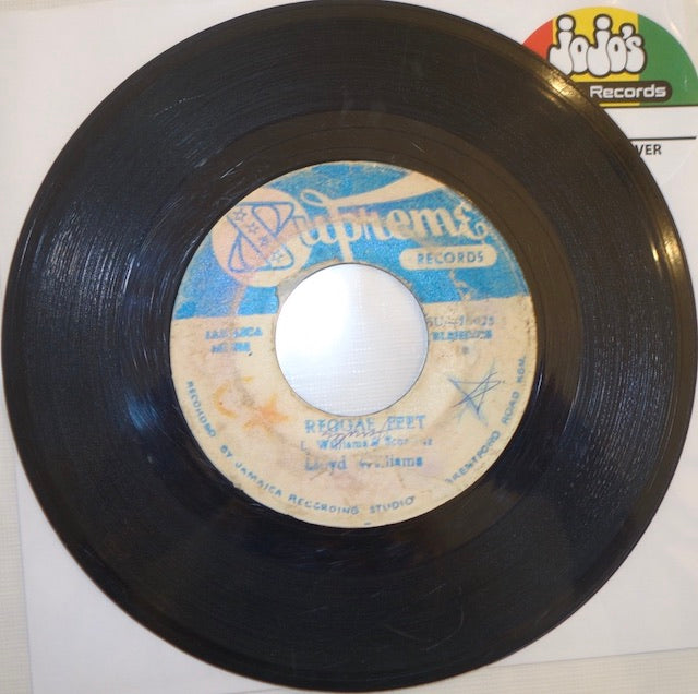 "Lloyd Williams / Dennis Alcapone ‎– Reggae Feet / Nanny Version 7"" - Supreme"