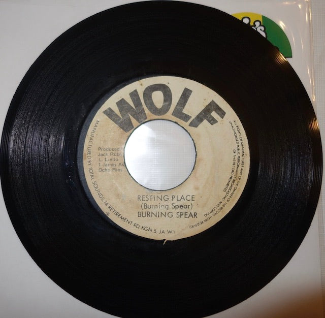 "Burning Spear ‎– Resting Place / Shady Tree 7"" - Wolf"