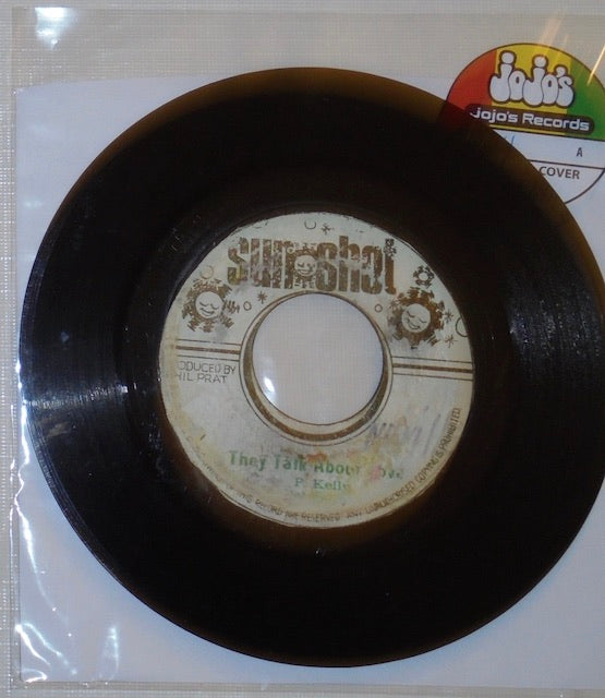 "Pat Kelly ‎– They Talk About Love / Version 7"" - Sunshot"