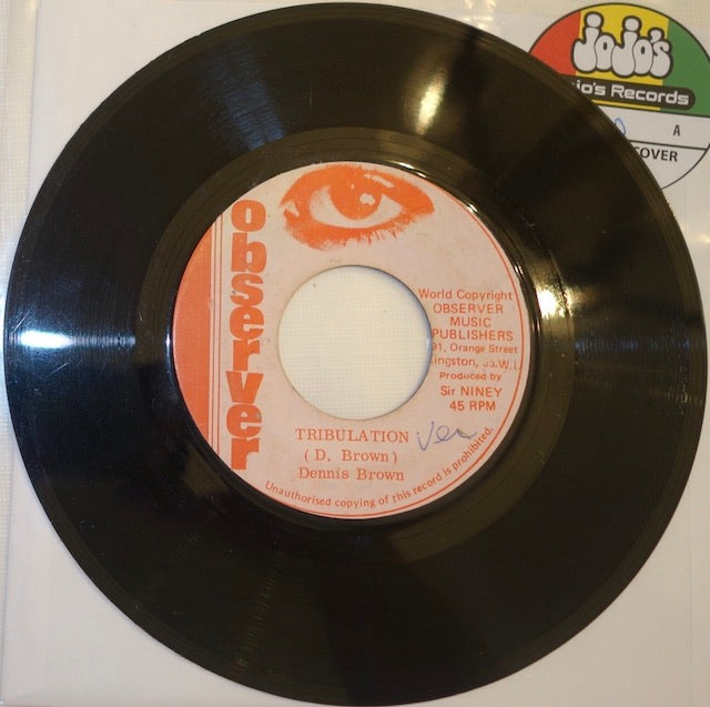 "Dennis Brown ‎– Tribulation / Tribulation Version 7"" - Observer"
