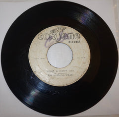 "The Burning Spear ‎– What A Happy Day / Version 7"" - Coxsone"