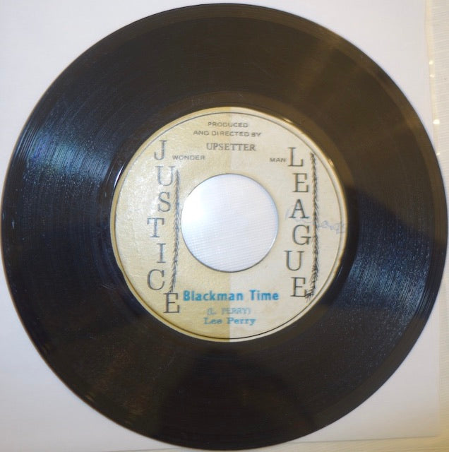 "Lee Perry - Blackman Time / Think Black 7"" - Justice League"