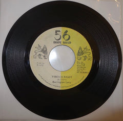 "Barrington Levy ‎– Vibes Is Right / Version 7"" - 56 Hope Road"