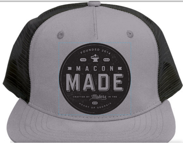 Macon Made Black and Grey Trucker Cap
