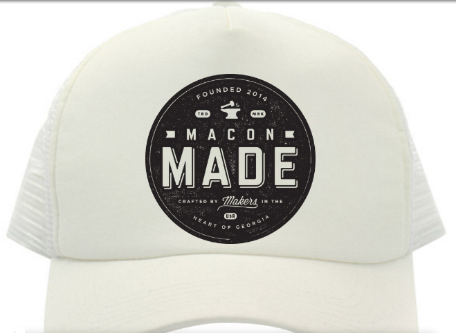 Macon Made All White Trucker Hat
