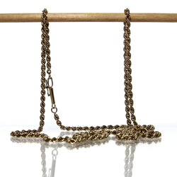 Vintage 14K Yellow Gold Rope Chain - Greg DeMark