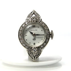 Hamilton Vintage Ladies 14K White Gold Diamond Watch - Greg DeMark