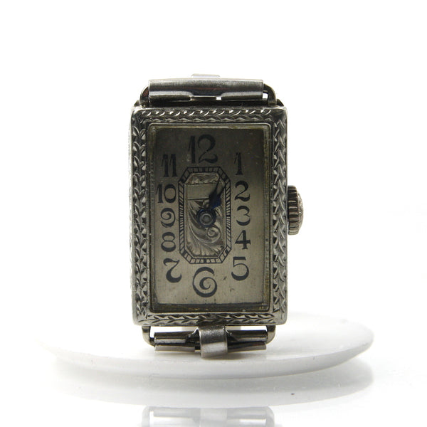 Ladies 18k White Gold Art Deco Watch - Greg DeMark