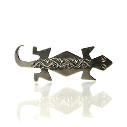 Vintage Navajo Sterling Lizard Brooch - Greg DeMark