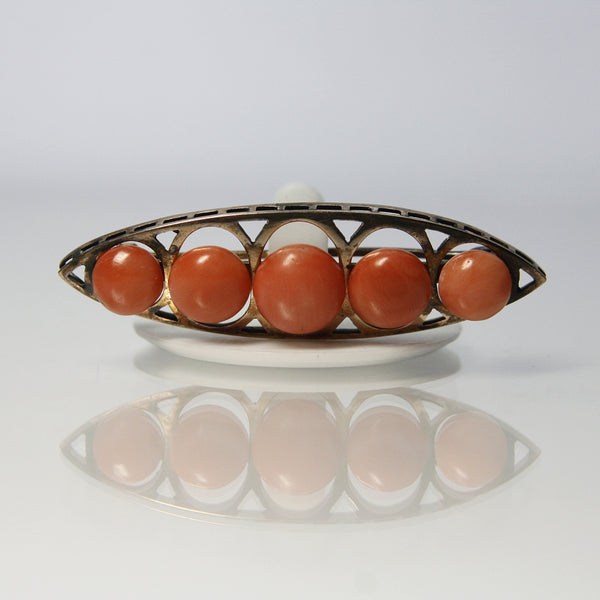 Antique Coral Brooch 10K Gold - Greg DeMark