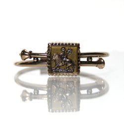 Antique Victorian Bypass Bracelet With Cupid On A Lion - Greg DeMark
