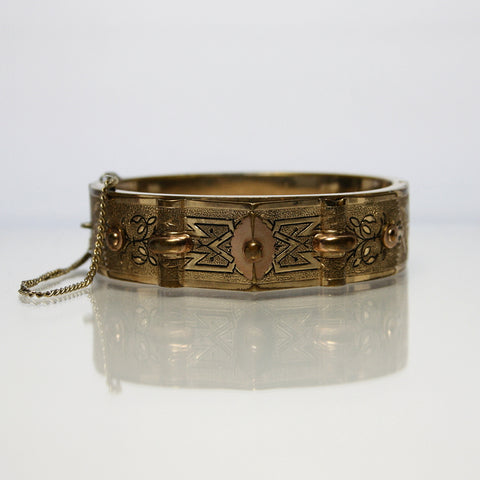 Antique Victorian Rolled Gold Bangle Bracelet - Greg DeMark