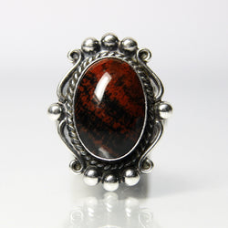 Bell Trading Post Petrified Wood Ring Vintage Sterling Silver - Greg DeMark