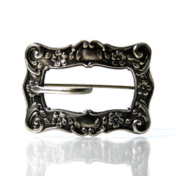 Victorian Sterling Silver Sash Pin Buckle Brooch - Greg DeMark