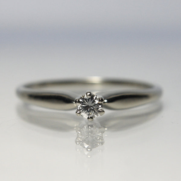 Vintage 14k White Gold Diamond Solitaire Ring - Greg DeMark