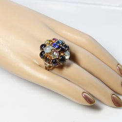 Large Vintage 14K Gemstone Cluster Ring - Greg DeMark