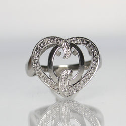 Vintage Sterling Silver Diamond Heart Ring - Greg DeMark