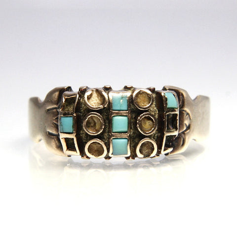 Victorian 10K Turquoise Ring Setting Size 7.5 Needs Restoration - Greg DeMark