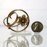 Retro Gold Filled Flower Circle Pin Brooch Forstner - Greg DeMark