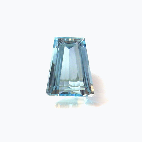 Natural Loose Faceted Tapered Step Cut Aquamarine Gemstone 4.87 Carats - Greg DeMark