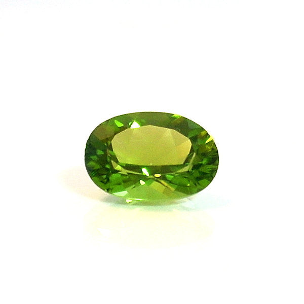 Natural Peridot Oval Cut Loose Faceted Gemstone 6.12 Carats - Greg DeMark