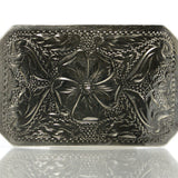 Vintage Western Buckle Sterling Silver Hand Engraved - Greg DeMark