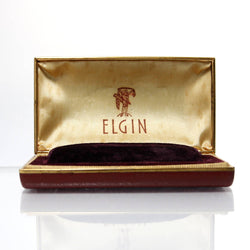 Vintage Elgin Watch Box Red Leather - Greg DeMark