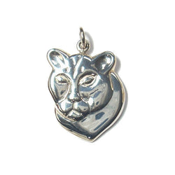 Handmade Sterling Mountain Lion Cougar Pendant - Greg DeMark